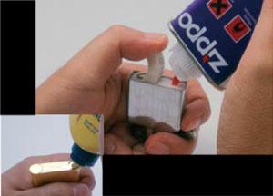 オイルライターのオイル注入手順3